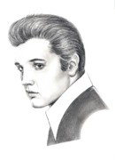 Elvis Presley Drawings - Elvis Presley by Murphy Elliott