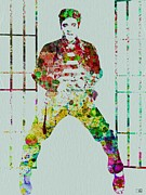 Elvis Presley Painting Metal Prints - Elvis Presley Metal Print by Irina  March