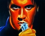Music Digital Art - Elvis Presley by Pamela Johnson