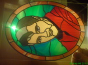 Music Glass Art Originals - Elvis Presley by Robin Jeffcoate