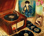 For Musicians Paintings - Elvis Presley Still Number One by Carole Spandau