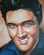 Portraits By Timothe Framed Prints - Elvis Presley Framed Print by Timothe Winstead