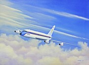 Elvis Presley Painting Originals - Elvis Presleys Convair 880 by William Gardoski