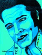 Icon  Drawings - Elvis by Richard Heyman