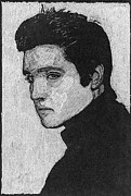 Rock N Roll Drawings Originals - Elvis  by Robert Clement