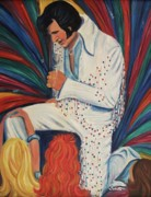 Brunett Framed Prints - Elvis Framed Print by Suzanne  Marie Leclair