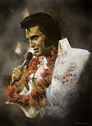 Hawai Painting Prints - Elvis THE KING Print by Michael Essex