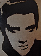 Famous Stencils Prints - Elvis Print by Tom Evans