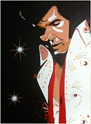 Elvis Presley Painting Originals - Elvis.. Vegas. by Fred Colley