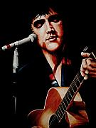 Rock And Roll Painting Originals - Elvis with scarf by Richard Klingbeil