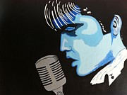 Elvis Presley Art Painting Originals - Elvis..Moody Blue by Fred Colley