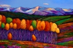 Fall Color Painting Posters - Elysian Poster by Johnathan Harris