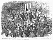 Abolition Metal Prints - Emancipation, 1863 Metal Print by Granger