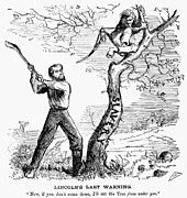 Abolition Metal Prints - Emancipation Cartoon, 1862 Metal Print by Granger
