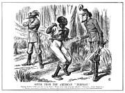 Abolition Metal Prints - Emancipation Cartoon, 1863 Metal Print by Granger