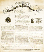 Colorized Prints - Emancipation Proclamation Print by Photo Researchers