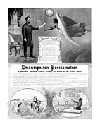 President Lincoln Framed Prints - Emancipation Proclamation Framed Print by War Is Hell Store