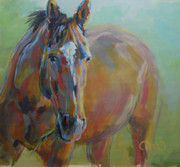 Thoroughbred Race Paintings - Emanon by Kimberly Santini