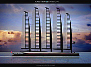 Volution Posters - Emax E-Volution Schooner Poster by Richard Sauter