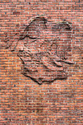 Brick Walls Prints - Embedded Eagle Print by JC Findley