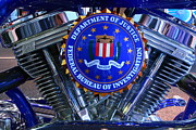 Fbi Prints - Emblems-8768 Print by Rick  Blood