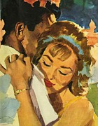 Forties Painting Posters - Embrace Poster by English School
