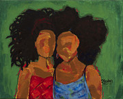 African American Women Paintings - Embrace It by S Goodwin