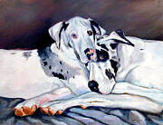 Great Dane Portrait Posters - Embrace Poster by Lyn Cook