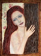 Redhead Mixed Media Framed Prints - Embrace the one you love Framed Print by Lila Violet