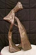 Iron  Sculptures - Embrace by Wayne Briner