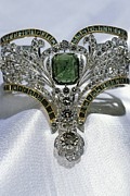 Precious Metal Art - Emerald And Diamond Bracelet by Ria Novosti