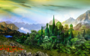 Fantasy Digital Art - Emerald City by Karen Koski
