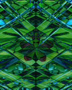 Geometric Abstract Art Mixed Media Framed Prints - Emerald Cut Framed Print by Ann Powell