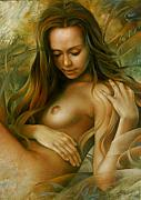 Nude Females Paintings - Emerald Fairy by Arthur Braginsky