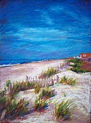 North Sea Pastels Prints - Emerald Isle Dunes Print by Bethany Bryant