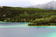 Turquoise Mountain Lake Prints - Emerald Lake Print by Charline Xia