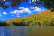 Manchester Vermont Prints - Emerald Lake Vermont in Autumn Print by John Burk