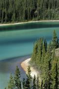 Aerial Photos Prints - Emerald Lake, Whitehorse, Yukon Print by Mike Grandmailson