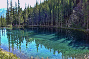 Emerald Mountain Pond Print by Jo-Anne Gazo-McKim