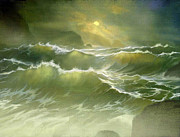 Coastline Digital Art - Emerald Sea by Robert Foster