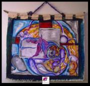 Dancing Tapestries - Textiles Framed Prints - Emergence Framed Print by Carol Rashawnna Williams