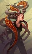 Tentacles Digital Art Prints - Emergence Print by Ethan Harris