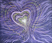Expanding Light Prints - Emerging Heart Print by Judy M Watts - Rohanna