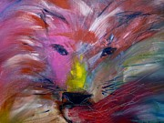 Lion Of Judah Paintings - Emerging Lion by Deborah Nell