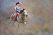 Quarter Horses Prints - Emerging Print by Susan Candelario