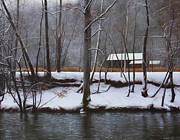 Tennessee Prints Paintings - Emerts Cove in Winter by Susan Buczak