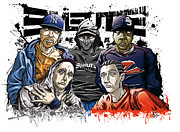 Hip Hop Drawings - Emeute Infernale by Tuan HollaBack
