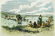 Destiny Metal Prints - Emigrants In Nebraska, 1859 Metal Print by Granger