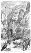 Mountain Road Prints - Emigrants To The West, 1865 Print by Granger