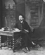 Naturalism Framed Prints - Emile Zola 1840-1902 Novelist Framed Print by Photo Researchers